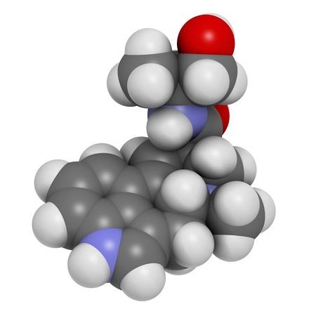lsd: Ergometrine drug molecule LANG_EVOIMAGES