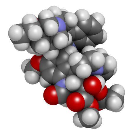 immunosuppressant: Vincrinstine cancer drug molecule