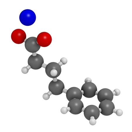 Sodium phenylbutyrate drug molecule