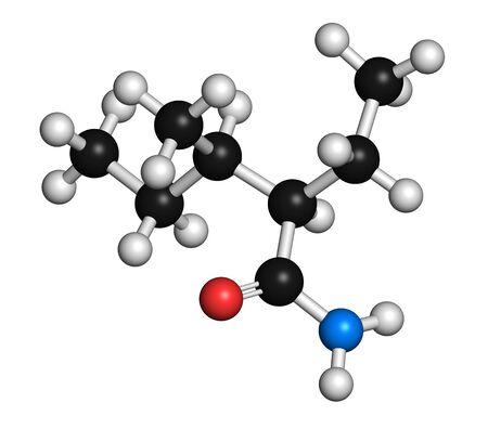 Valnoctamide sedative drug molecule