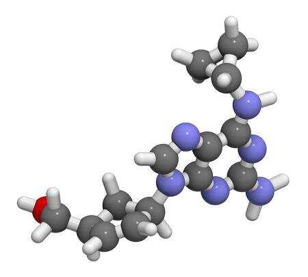 guanosine: Abacavir HIV drug molecule