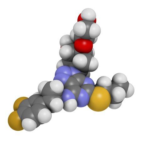 nucleoside: Ticagrelor platelet inhibitor drug