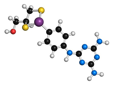 Melarsoprol trypanosomiasis drug molecule