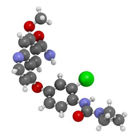 Lenvatinib cancer drug molecule