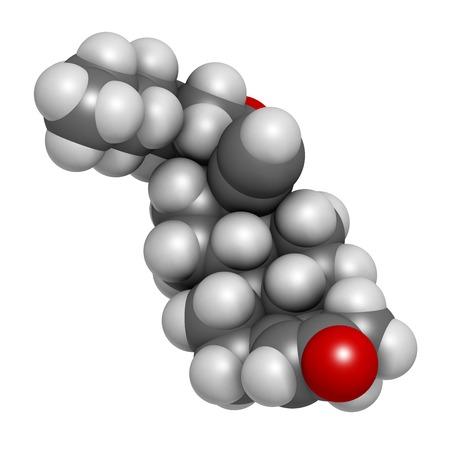 inyeccion intramuscular: Molécula de fármaco de enantato de noretisterona