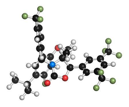 Hypercholesterolemia drug molecule