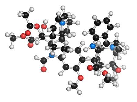 Vincrinstine cancer drug molecule