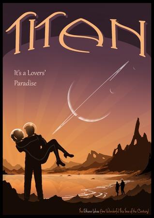 titan: Travel Poster Advertising Titan LANG_EVOIMAGES
