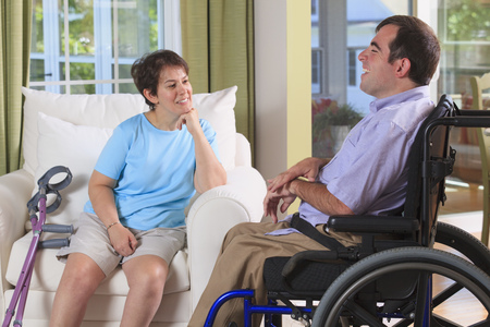 cerebral palsy: Couple with Cerebral Palsy