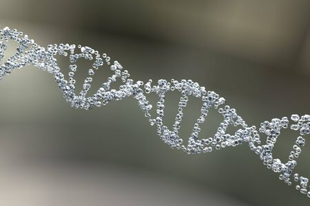 helical: DNA molecule, illustration