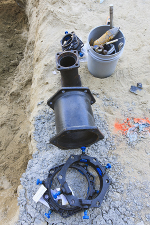 site preparation: Water distribution system fittings LANG_EVOIMAGES