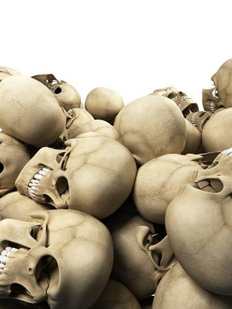 endings: Human skulls, Illustration