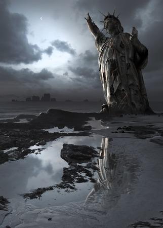 climatology: Illustration depicting global warming