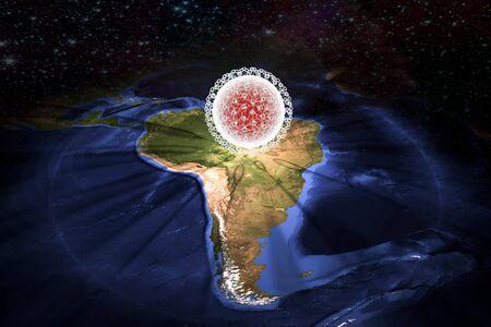 teratogenic: Zika virus in Brazil, illustration