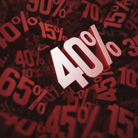 per cent: Forty per cent discount, illustration