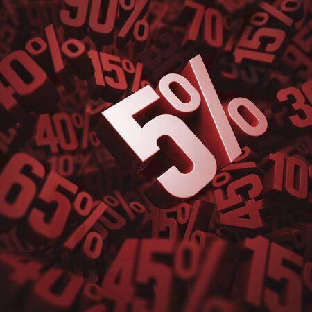 per cent: Five per cent discount, illustration