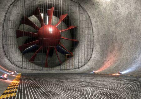 Wind tunnel, illustration