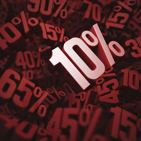 per cent: Ten per cent discount, illustration