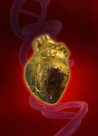 decaying: Decaying heart, illustration LANG_EVOIMAGES