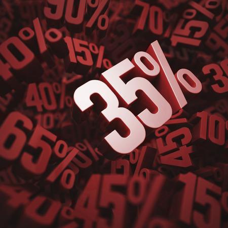 per cent: 35 per cent discount, illustration