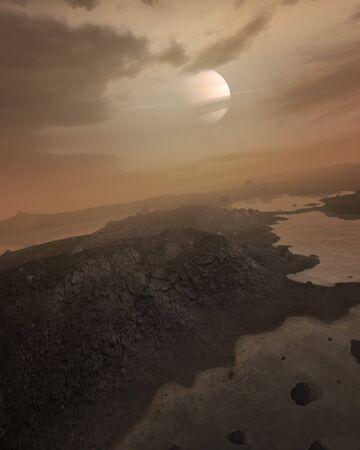 titan: Artwork of Seas on Titan