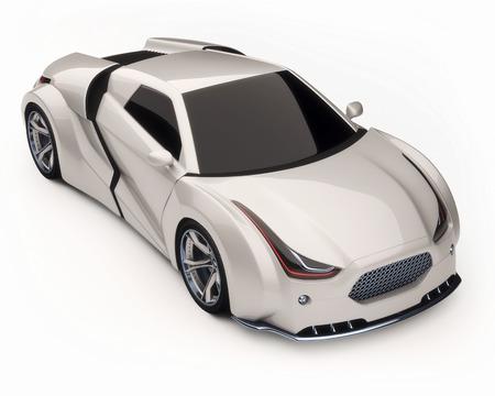 supercar: White supercar, illustration LANG_EVOIMAGES
