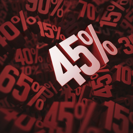 per cent: 45 per cent discount, illustration