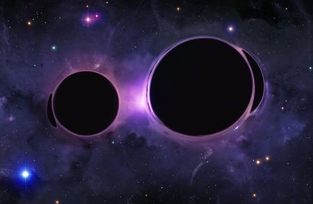 spacetime: Artwork of Black Holes Merging