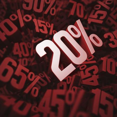 per cent: Twenty per cent discount, illustration