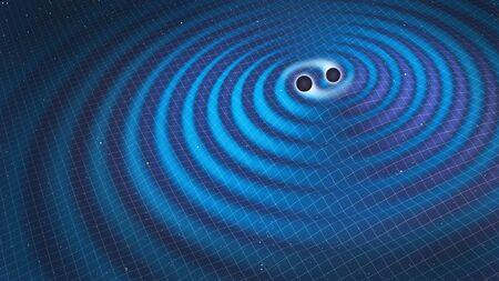 gravitational: Gravitational waves, illustration