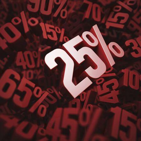 per cent: 25 per cent discount, illustration LANG_EVOIMAGES