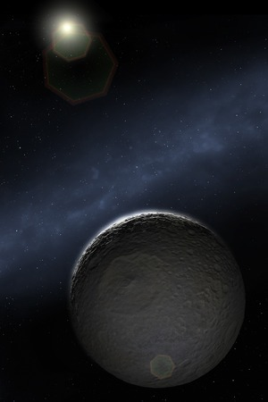 Artwork of Saturns Moon Mimas
