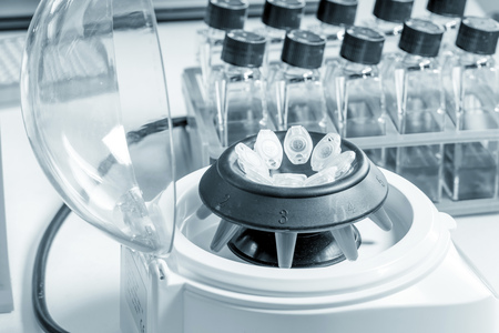 pcr: Centrifuge with pcr microtubes