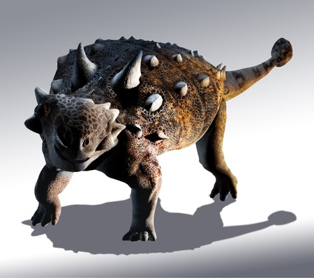 Artwork of Euoplocephalus dinosaur