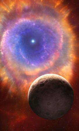 Artwork of a planetary nebula LANG_EVOIMAGES