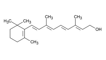 Vitamin A, skeletal formula LANG_EVOIMAGES