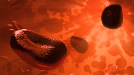 corpuscles: Artwork of cells in blood stream