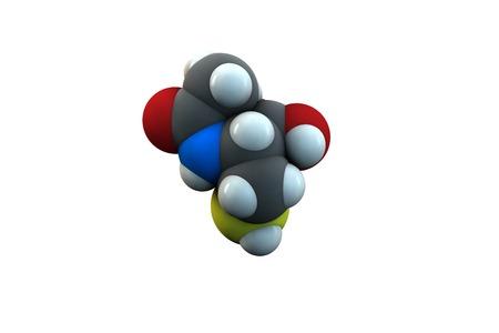 hidrógeno: Molécula de fármaco mucolítico de acetilcisteína