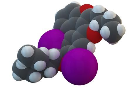 hidrógeno: Amiodarone antiarrhythmic drug molecule