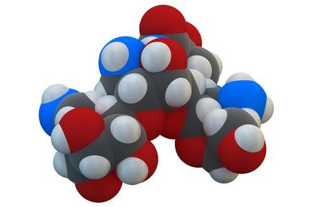 inyeccion intramuscular: Amikacin molécula de fármaco aminoglucósido LANG_EVOIMAGES