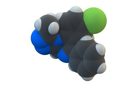 Alprazolam sedative drug molecule LANG_EVOIMAGES