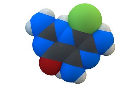 diuretic: Amiloride diuretic drug molecule