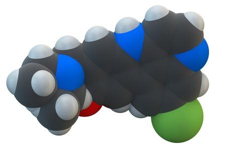 Amodiaquine anti-malarial drug molecule