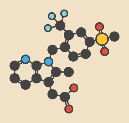 calvicie: Molécula del fármaco del asma de Fevipiprant