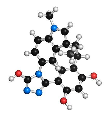 aml: Ganetespib cancer drug molecule