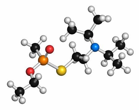 acetylcholine: VX nerve agent molecule LANG_EVOIMAGES