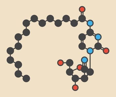 Sapacitabine cancer drug molecule LANG_EVOIMAGES