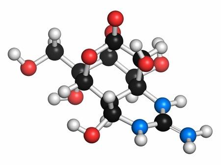 Tetrodotoxin pufferfish neurotoxin molecule LANG_EVOIMAGES
