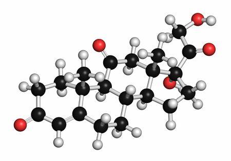 Cortisone stress hormone molecule