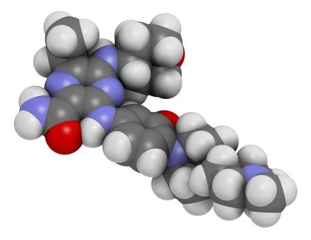 Gilteritinib cancer drug molecule